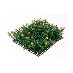Fleurs tapis jaune-orange 25 x 25 x 5 cm