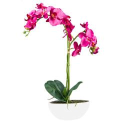 Orchidée beauty bol en céramique ovale H 65 cm