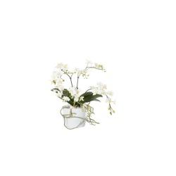 Phalaenopsis blanc en pot céramique 58 cm