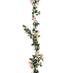 Rosa Guirlande rose clair 180 cm