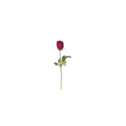 Rose double noir foncé 52 cm