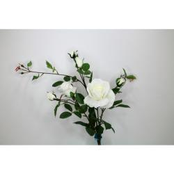 Rose ramifiée blanche 101 cm