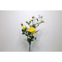 Rose ramifiée jaune 101 cm