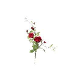 Rose ramifiée rouge 101 cm